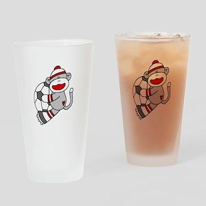 Sock Monkey Soccer Pint Glass