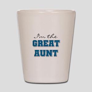 Blue Great Aunt Shot Glass