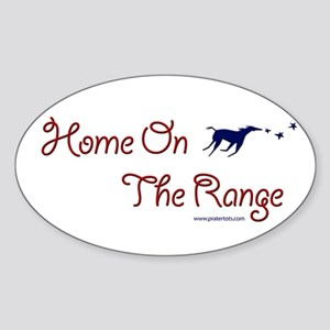 Home on the range Oval Sticker