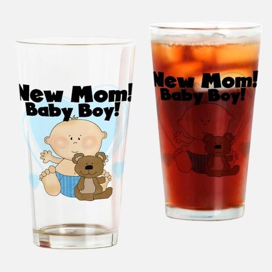 New Mom Baby Boy Pint Glass