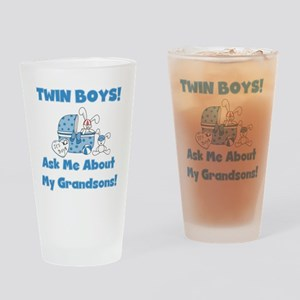 Grandma Twin Boys Pint Glass
