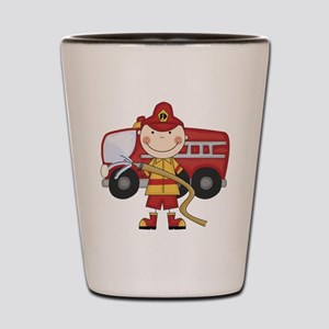 Male Firefighter Shot Glass