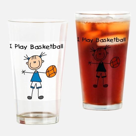 Girl I Play Basketball Pint Glass
