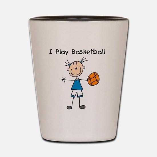 Girl I Play Basketball Shot Glass