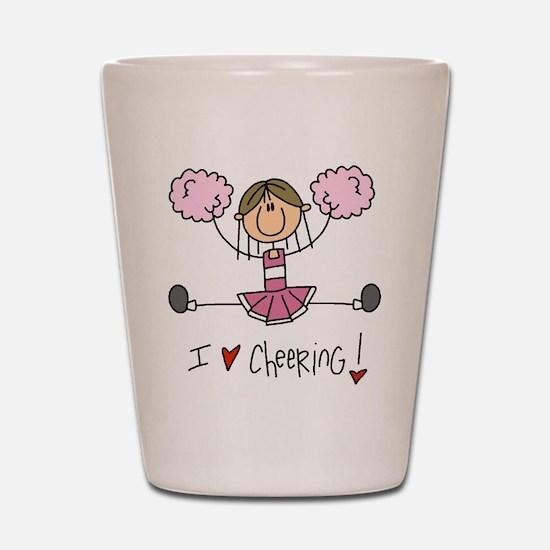 Pink Love Cheering Shot Glass