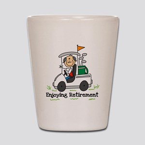 Retired and Golfing Shot Glass