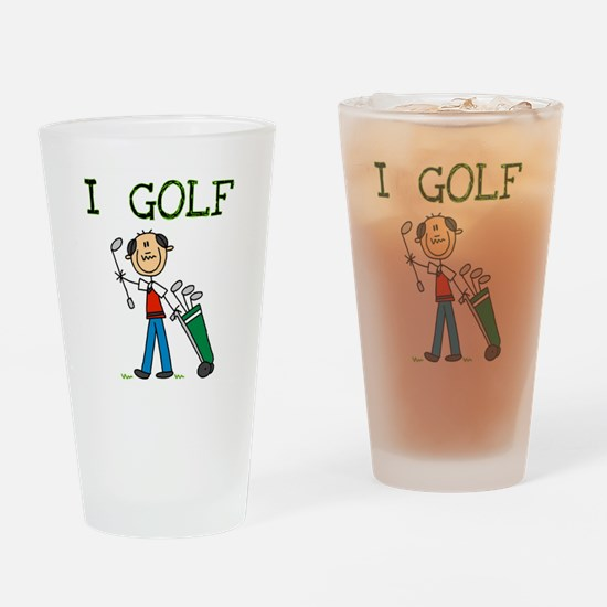 Male I Golf Pint Glass