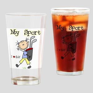Golf My Sport Pint Glass