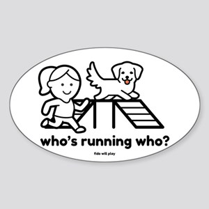 Agility Who's Running Who Sticker