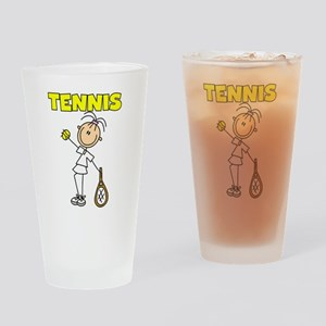 TENNIS Girl Stick Figure Pint Glass