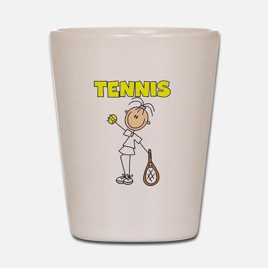TENNIS Girl Stick Figure Shot Glass