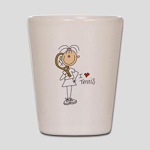 Girl I Love Tennis Shot Glass