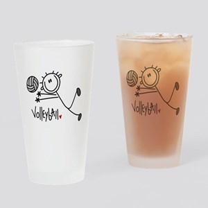 Stick Figure Volleyball Pint Glass