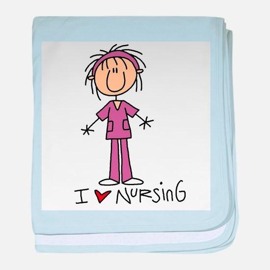 I Love Nursing baby blanket