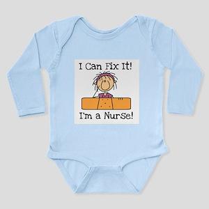 Fix It Nurse Long Sleeve Infant Bodysuit