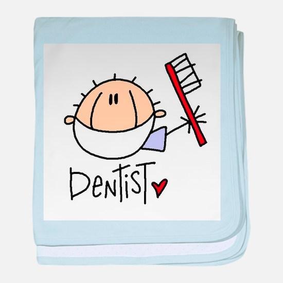 Male Dentist baby blanket