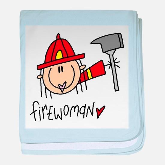 Firewoman baby blanket