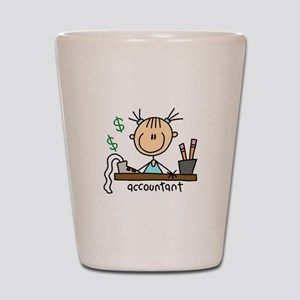 Professions Accountant Shot Glass