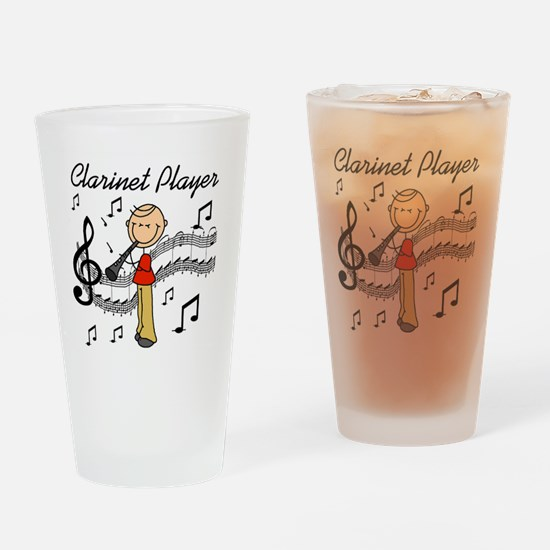 Clarinet Player Pint Glass