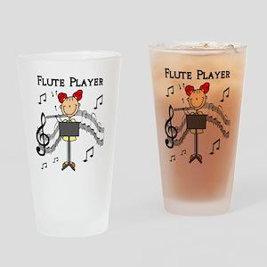 Flute Player Pint Glass