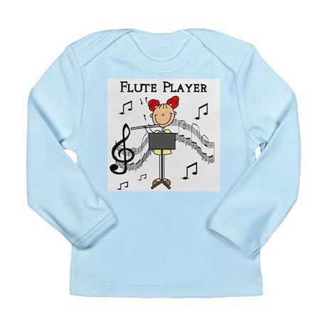 Flute Player Long Sleeve Infant T-Shirt
