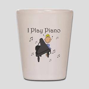 I Play Piano Shot Glass