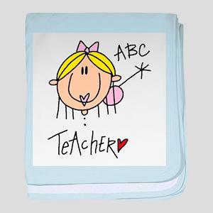 Female Teacher baby blanket