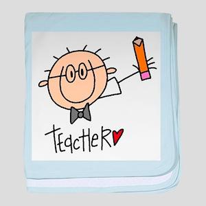 Male Teacher baby blanket