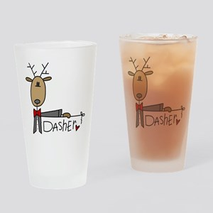 Dasher Reindeer Pint Glass