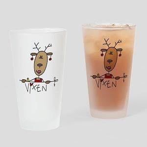 Vixen Reindeer Pint Glass