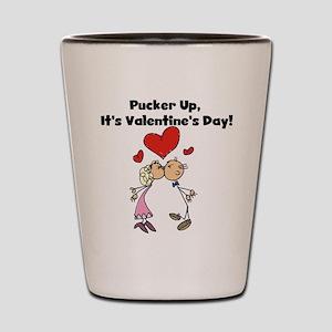 Pucker Up Valentine Shot Glass