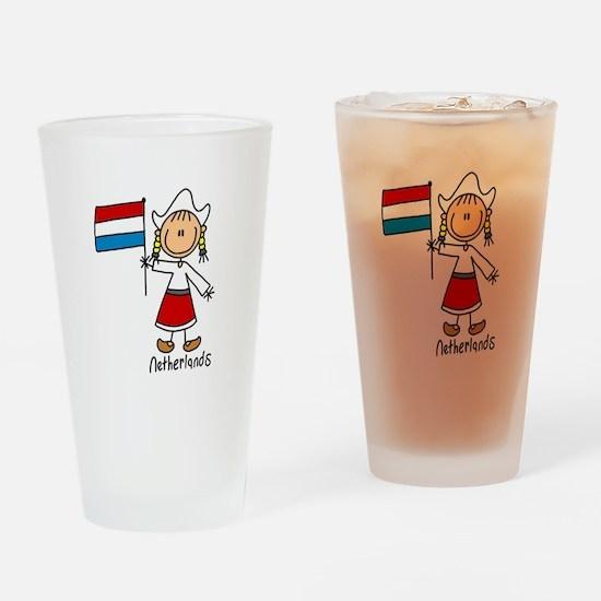 Netherlands Ethnic Pint Glass