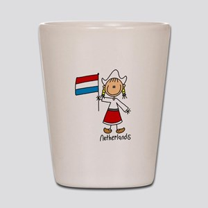 Netherlands Ethnic Shot Glass