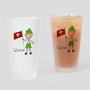 Switzerland Ethnic Pint Glass