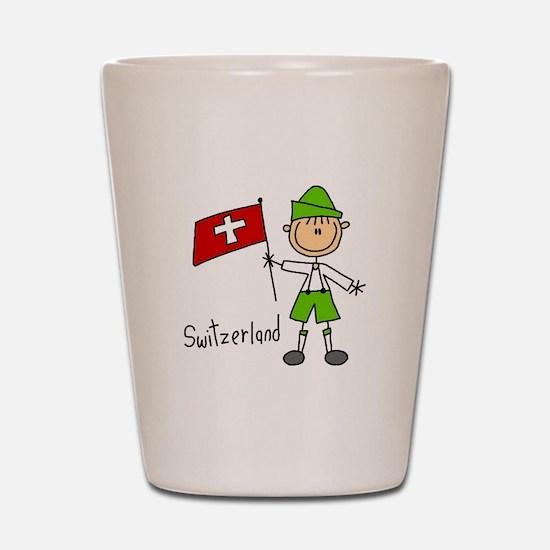 Switzerland Ethnic Shot Glass