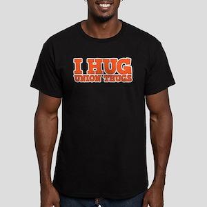 I Hug Union Thugs Men's Fitted T-Shirt (dark)