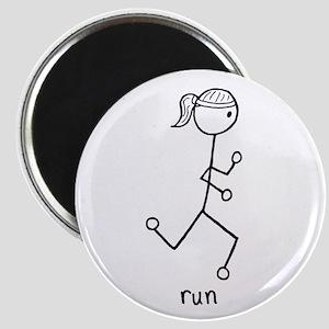 Running Girl Magnet
