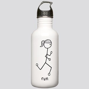 Running Girl Stainless Water Bottle 1.0L