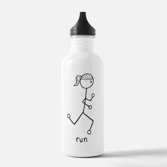 Running Girl Water Bottle