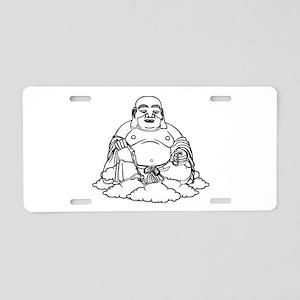 Gold Buddha Statue Icon Aluminum License Plate
