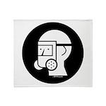 Gas Mask W/Shield Throw Blanket