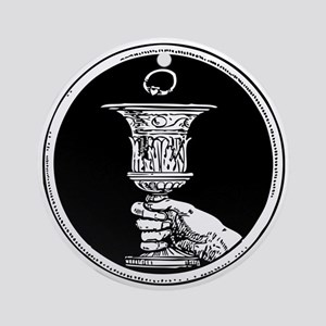 Chalice And Claddagh Ring Ornament (Round)