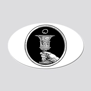 Chalice And Claddagh Ring 22x14 Oval Wall Peel