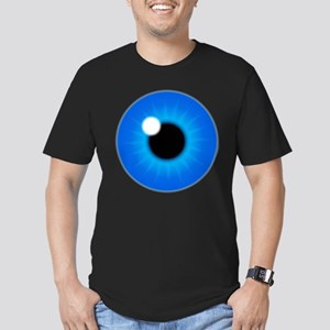 Blue Eye Iris and Pupil Men's Fitted T-Shirt (dark
