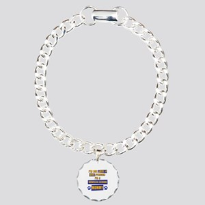 Norwegian Elkhound Mommy Charm Bracelet, One Charm