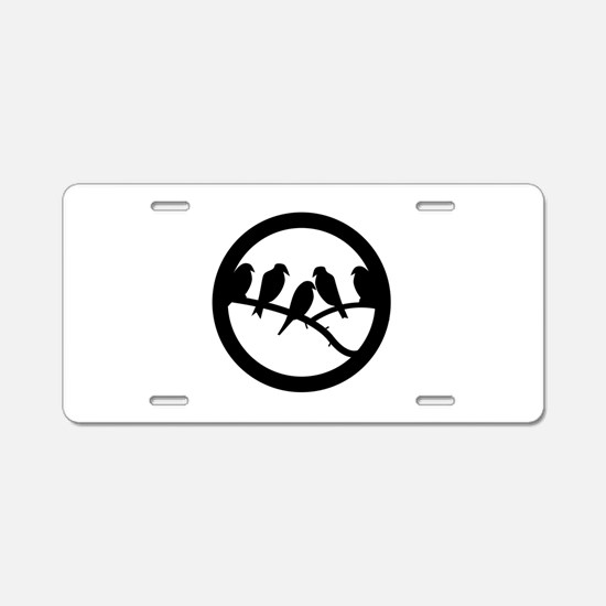 Bird Badge Icon Aluminum License Plate