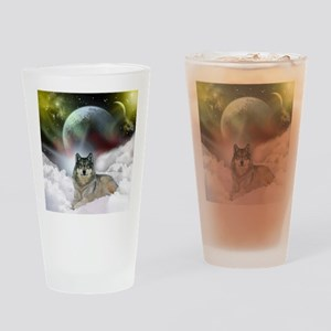 Fantasy Wolf Pint Glass