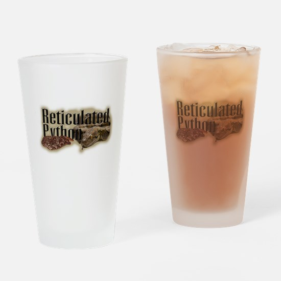Reticulated Python Pint Glass