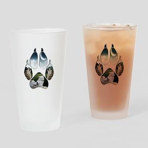 Wolf Print Pint Glass