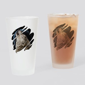 See Through Wolf Pint Glass